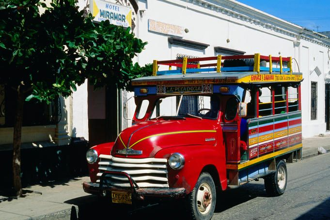 Chiva, traditional Colombian bus - Santa Marta, Magdalena