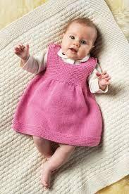 Billedresultat for strikket kjole baby