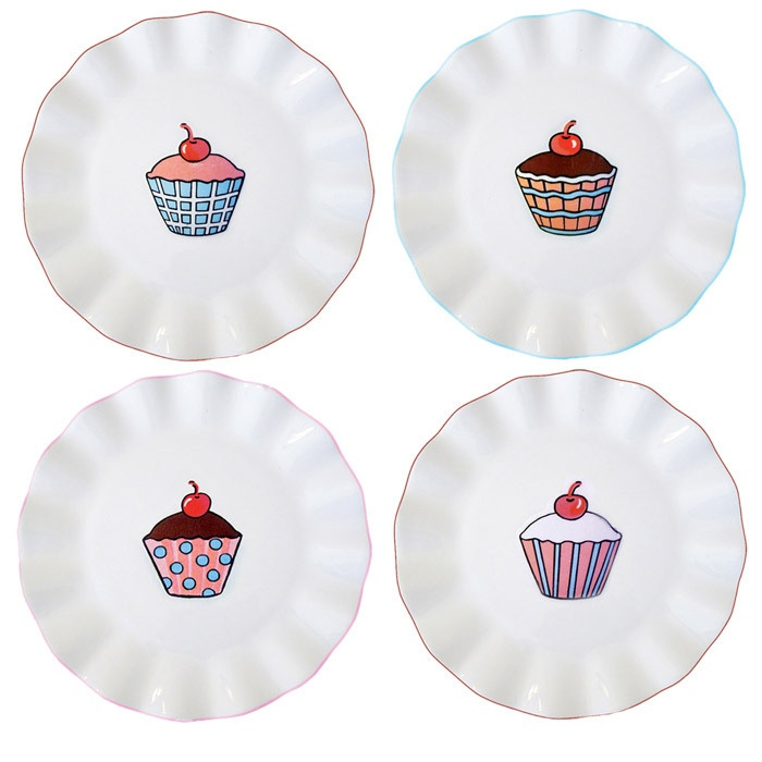 4 Piece Mae Cupcakes Plate Set  sc 1 st  Pinterest & 38 best Cupcake Plates images on Pinterest | Dishes Dinner plates ...