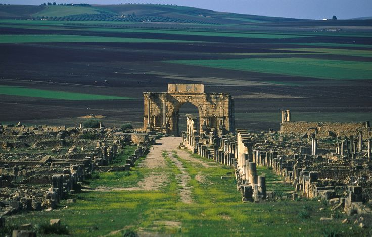 The ruins of the Phoenician and Roman city of Volubilis, an archaeological site in Morocco situated near Meknes. Volubilis features the best preserved Roman ruins in this part of northern Africa. In 1997 the site was listed as a UNESCO World Heritage site. // PHOTO BY JACQUES BRAVO