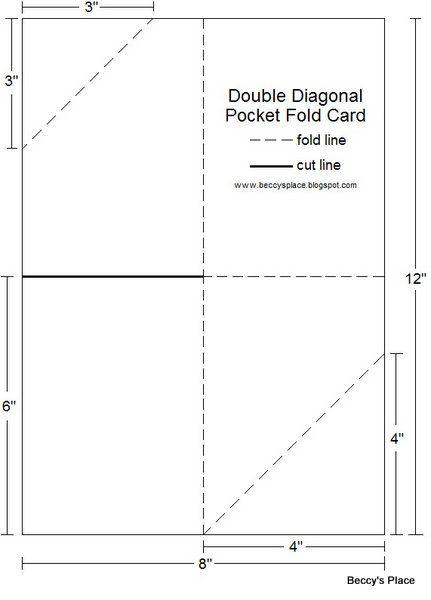 Beccy's Place: Technique Class - Diagonal Double Pocket Card