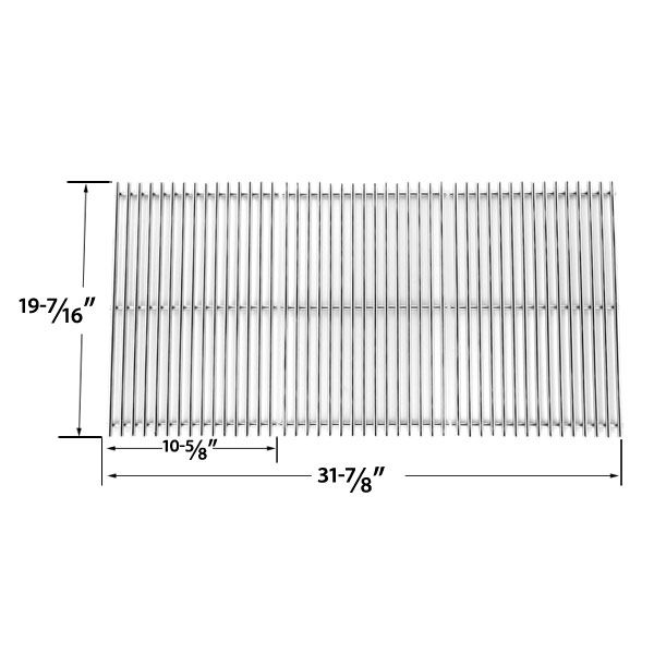 3 PACK STAINLESS STEEL COOKING GRID REPLACEMENT FOR CHARBROIL 463268207, 463268806 AND PRESIDENTS CHOICE GSS3220JS, GSS3220JSN, PC25762, PC25774 GAS GRILL MODELS  Fits Charbroil Models: 463268207, 463268806  BUY NOW @ http://grillrepairparts.com/shop/grill-parts/stainless-steel-cooking-grid-replacement-for-charbroil-463268207-463268806-and-presidents-choice-gss3220js-gss3220jsn-pc25762-pc25774-gas-grill-models-set-of-3/