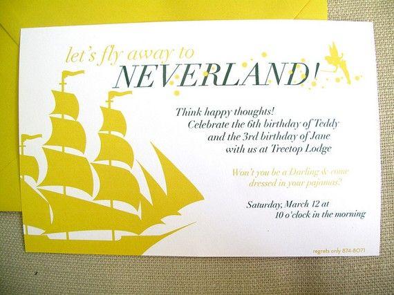 neverland invites