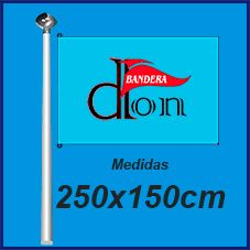 Bandera Publicitaria 250x150cm. Comprar Banderas baratas de publicidad y personalizadas.