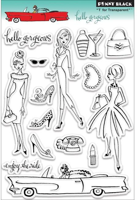 Hello Gorgeous - Clear Stamps $14.95