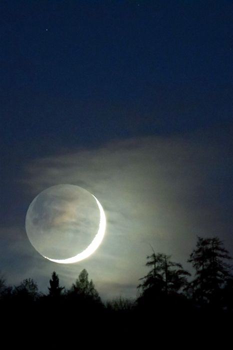 .: Illustrations Posters, Beautiful Moon, Newmoon, New Moon, Blue Moon, Crescents Moon, Night Sky, Photoshop Action, The Moon