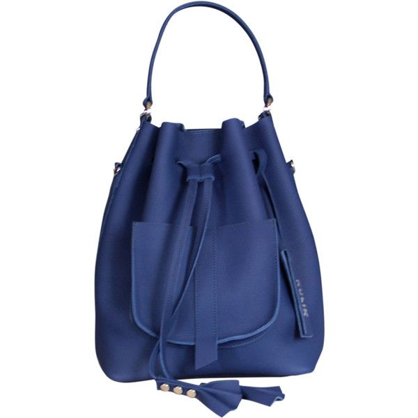 Navy Blue leather bucket bag ($189) ❤ liked on Polyvore featuring bags, handbags, shoulder bags, leather backpacks, navy blue backpack, navy blue crossbody, leather bucket bags and navy blue handbags
