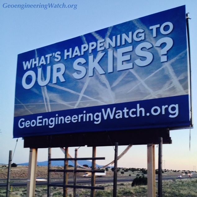 Another GeoengineeringWatch Billboard Goes Up On A Major Highway