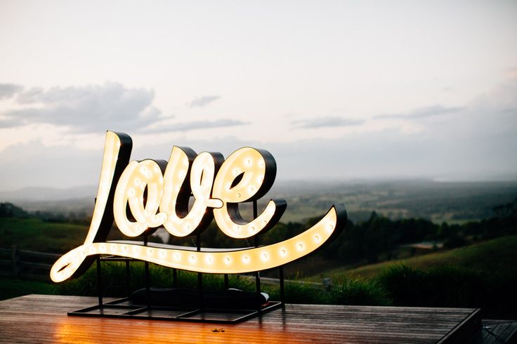 LOVE sign for hire in Byron Bay. We have marquee lights, letter lights, LOVE signs, bar signs, arrows and much more for hire in Sydney too. fromage la rue