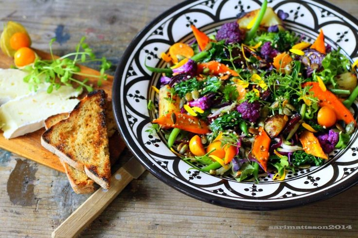 *recipe and photo by Sari Mattsson*  Colourful vegetable salad