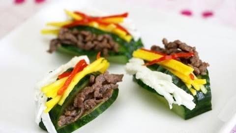Korean Food: Stuffed Cucumber (오이선) | Chef's Deli Kitchen