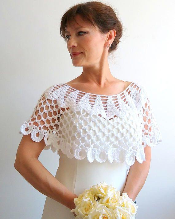 En venta capa blanca cabo de boda poncho lacy capelet