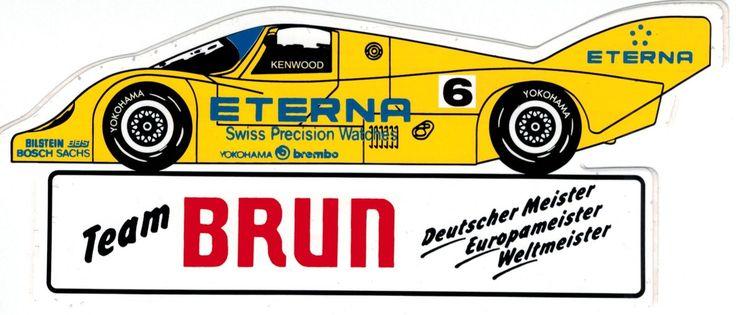 Team Brun Porsche ETERNA gelb Sticker Aufkleber   eBay