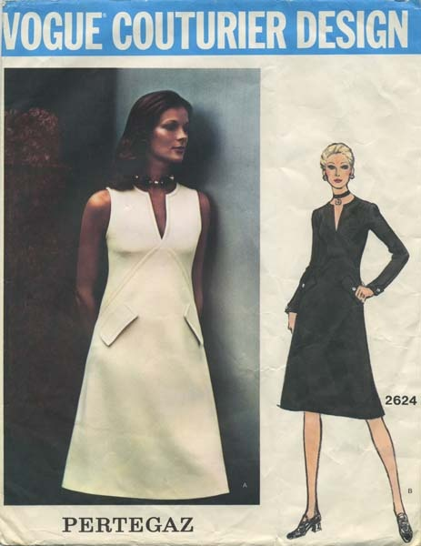 Vintage Vogue Couturier Design Sewing Pattern | Vogue 2624 | Year 1972 | Size 10 | Bust 32½ | Waist 24 | Hip 34½ | A Pertegaz Original
