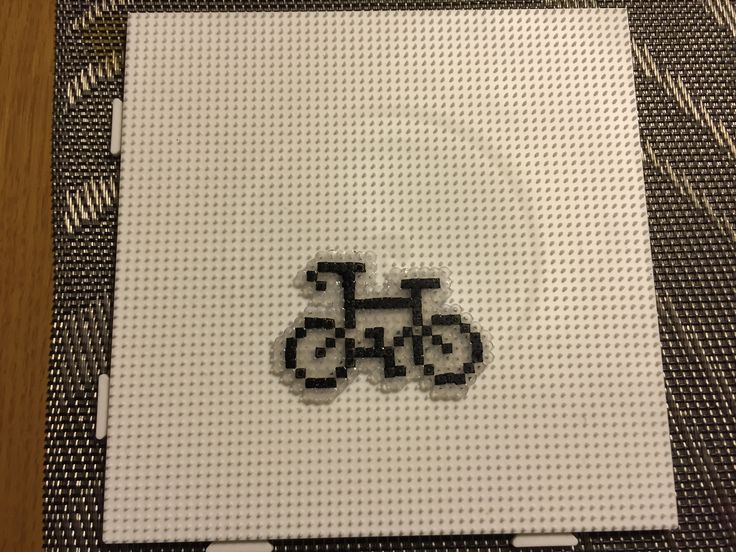 Hama beads, bicycle keyring