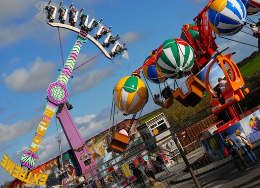 Flambards theme park in Helston a 30 minute drive from Falmouth.