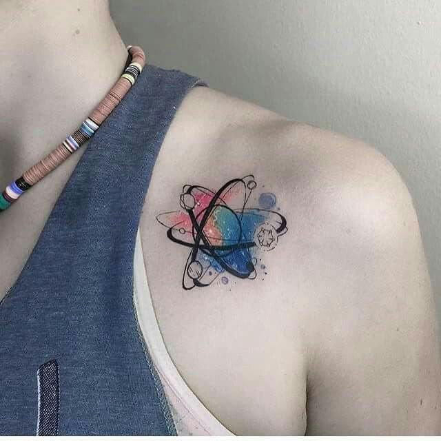 Cute little molecule tattoo.