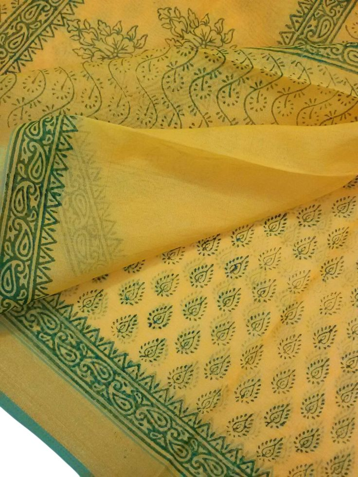 This Hand Block Printed Saree is made of Cotton mixed with slight synthetic fabric. Length is approx. 6.25 meter, and width is approx 45 inches. At the time of listing this product, this item is available. In case this item is sold out from our physical store, the full refund will be initiated back