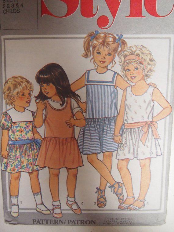Vintage 1980s Style child's dress or by VintageTwistsPattern, $5.00