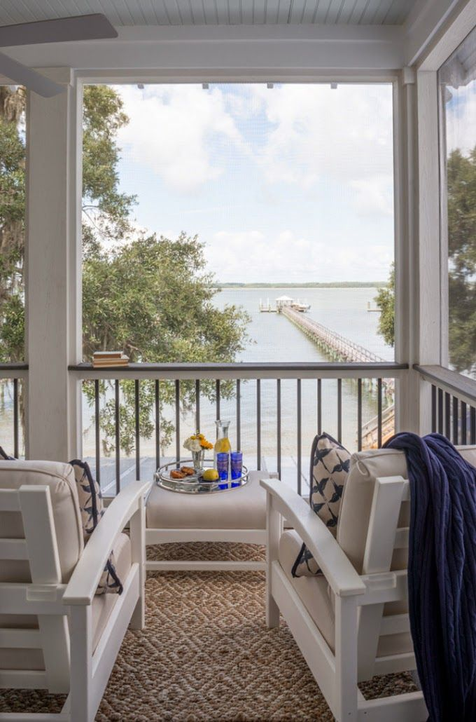 Peaceful porch and view