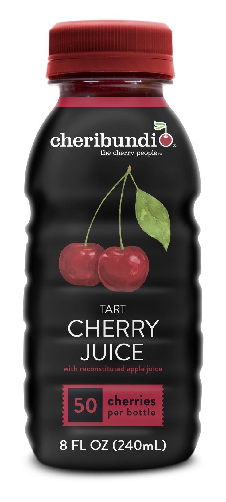 Cheribundi Tart Cherry Juice Light With 40 Cherries Per Bottle And Just 80 Calories