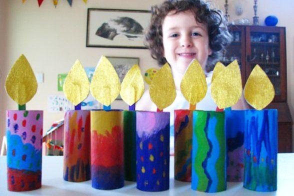 Hanukkah paper menorah by Joyful Jewish