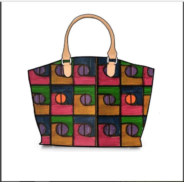 Otro ejemplo de los módulos aplicados a productos comerciales, como este bolso.