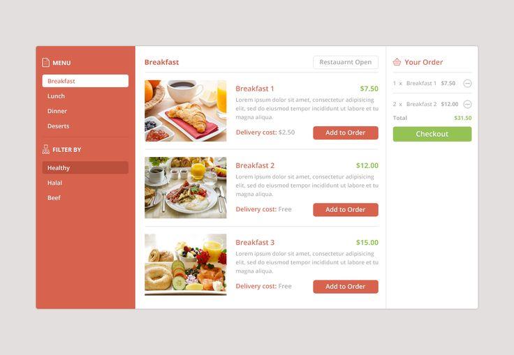 Foodwidget UI food web app