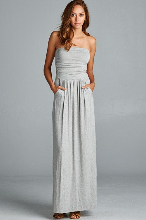 Best Selling Pocket Maxi NOW AVAILABLE IN HEATHER GRAY! #gypsyoutfitter #dress #pockets