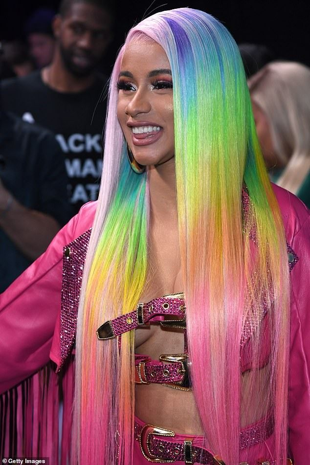 Cardi B Rainbow Wig Wig Hairstyles Hair Styles