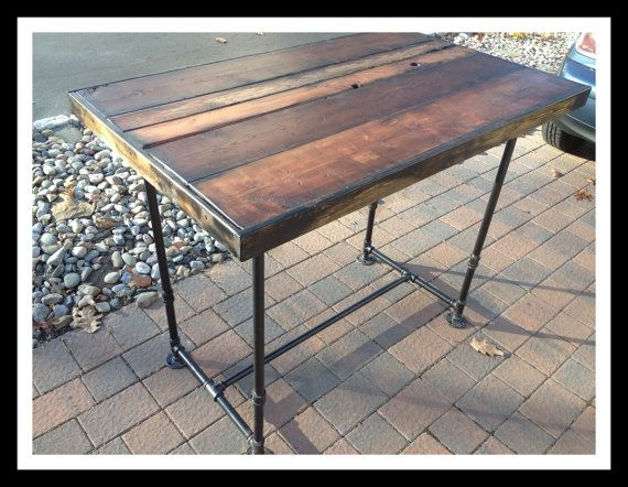 Industrial Bar Height Reclaimed Lumber Kitchen by ShannonCreations, $425.00  Look no further for your one - 15 Best Table Ideas For Carmine Images On Pinterest