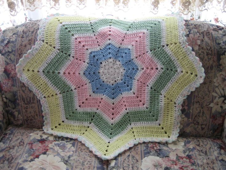 Shooting Star Baby Blanket Crochet Pattern