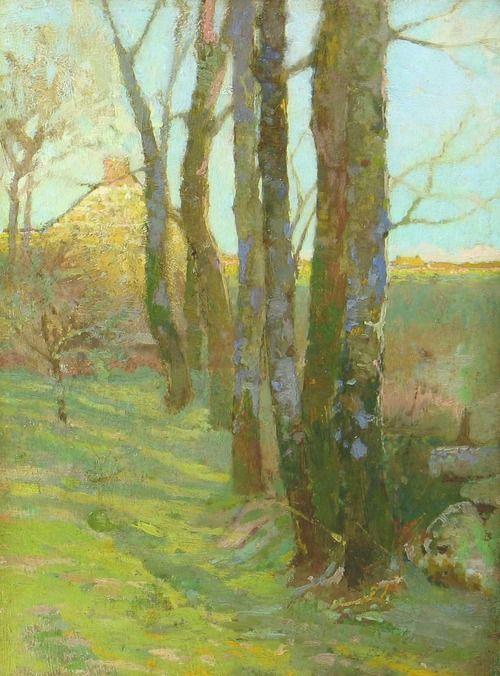 Odilon Redon (French, 1840-1916)  Arbres et Maisons: Vue d'Hiver  1880