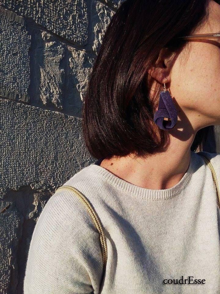 New suede handmade earrings!