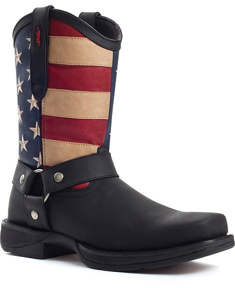 Durango Rebel American Flag Harness Boot - Snoot Toe
