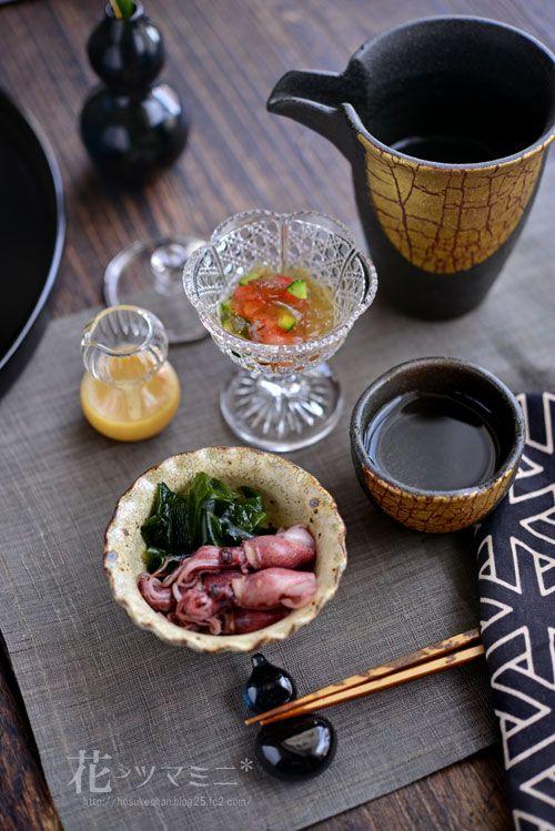 蛍烏賊とワカメのヌタ - HotaruIka and Wakame Nuta