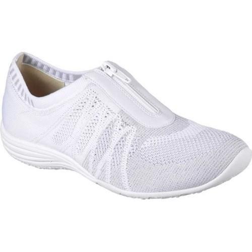 Women's Skechers Unity Transcend Zip-Up Sneaker White/