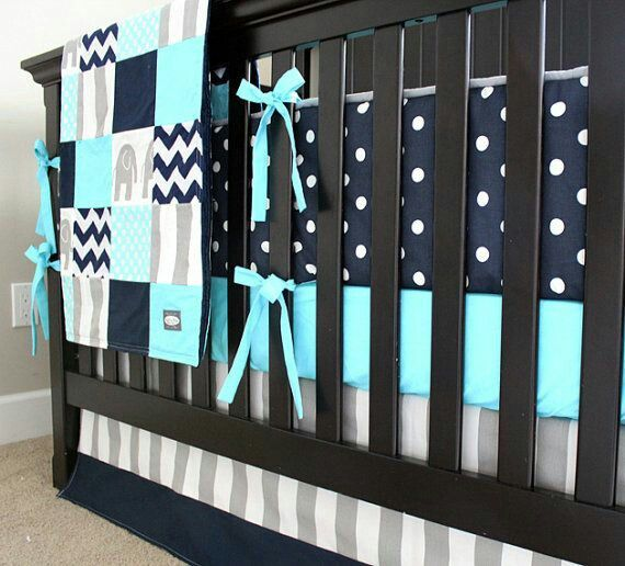 Navy Blue And Teal Boys Room