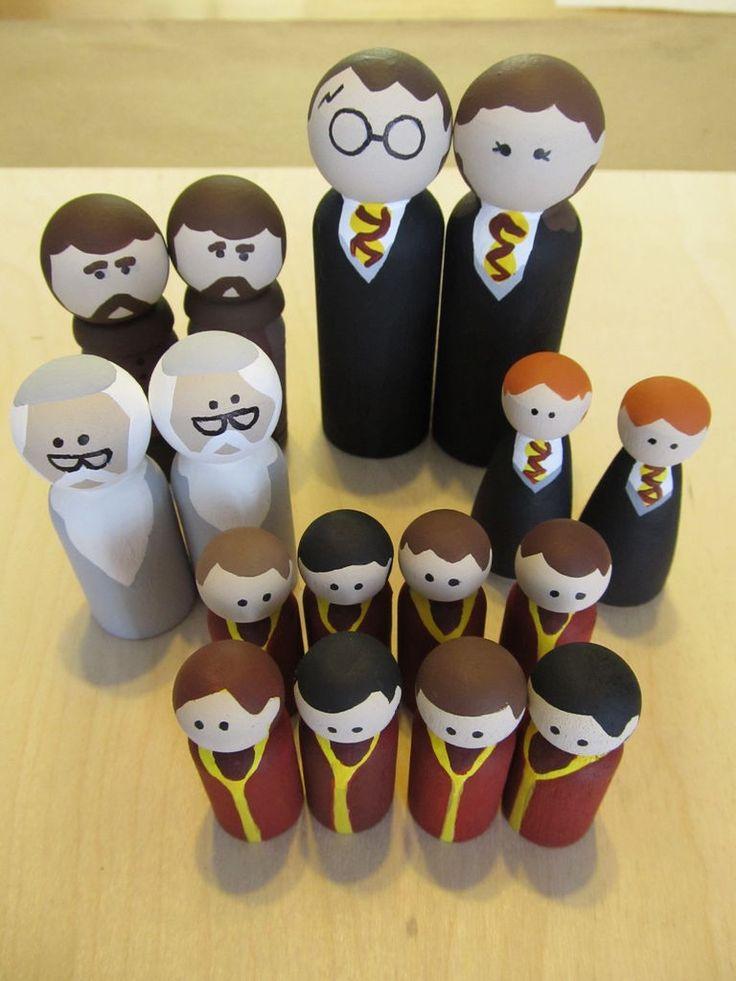Harry Potter wooden figures