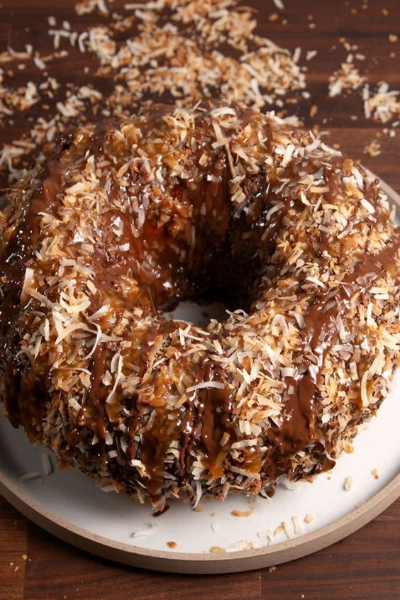 This Bundt Cake Tastes Exactly Like A Samoa Girl Scout Cookie  - Delish.com