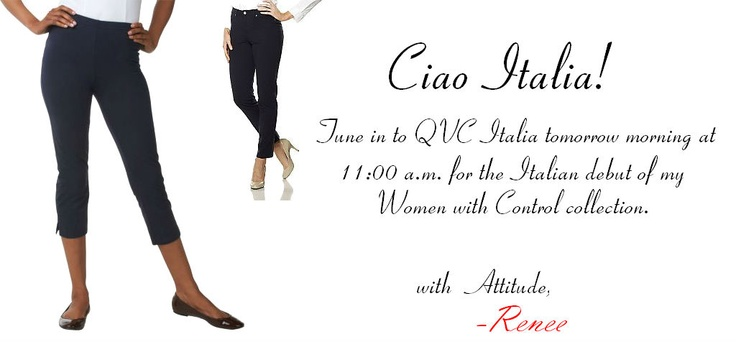 My Women with Control Collection is debuting on QVC Italy tomorrow!