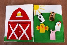 Sunshine, Lollipops, and Rainbows: Farming! - Quiet Book pages 2 & 3