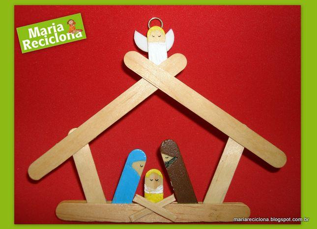 ** Maria Reciclona **: Presépio com material reciclado: o espírito do Natal traduzido em um projeto simples e cheio de significado.