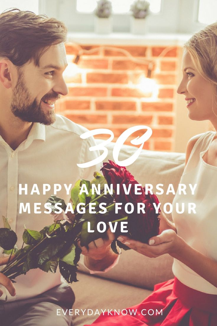 30 Happy Anniversary Messages for your Love