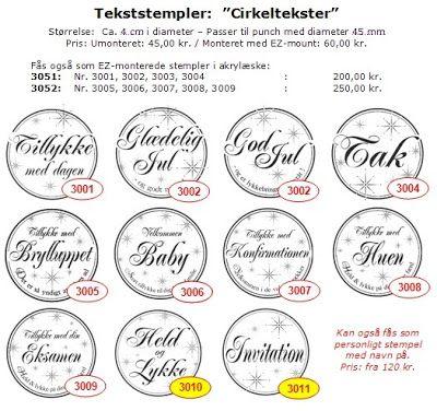 """orion stempler Mangler: """"Tak"""", """"Held og lykke"""" og """"Invitation"""""""