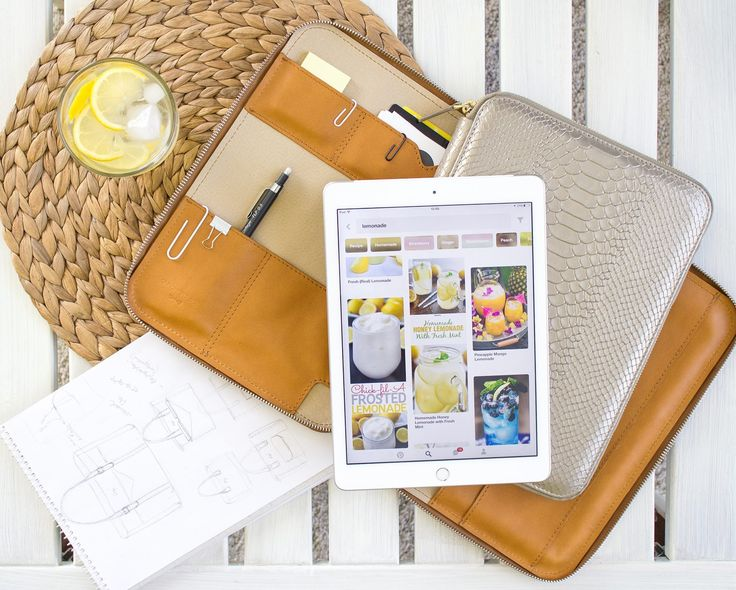 leather ipad case by Annamaria Pap
