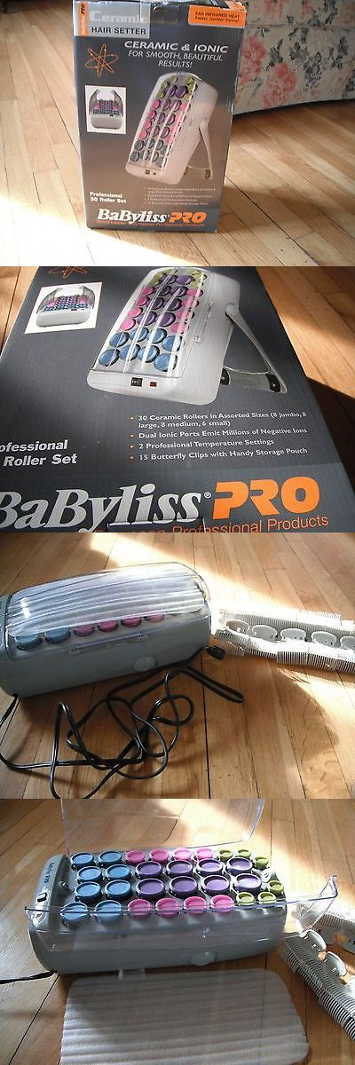 Rollers and Curlers: Babyliss Pro Ceramic Rollers/Hair Setter, New In Box BUY IT NOW ONLY: $49.5
