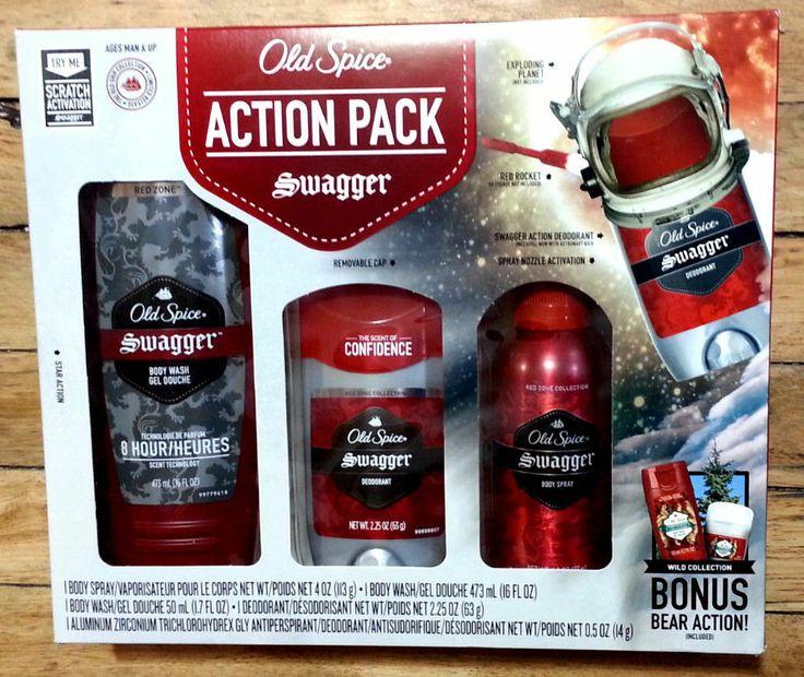 New old spice action pack swagger gift set bonus bear