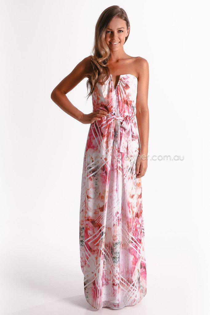 09020787be geo rose maxi - pink dress. Sponsored by our partner Esther | [Fashion]  Trends | Dresses, Fashion, Dresses australia
