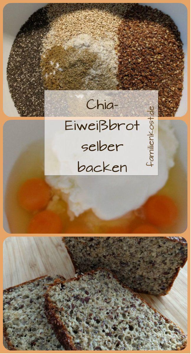 Rezept für ein saftiges Eiweiß Brot mit Chia Samen für alle, die sich ohne Kohlenhydrate ernähren wollen. Dieses Low Carb Brot mit Chiasamen, Leinsamen und Mandelmehl ist einfach um es selber zu backen. Hier geht es zum Eiweiss-Brot-Rezept: https://www.familienkost.de/rezept_chia_eiweiss-brot.html